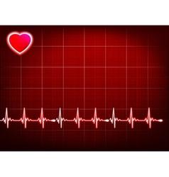 Abstract heart beats cardiogram eps 10 vector