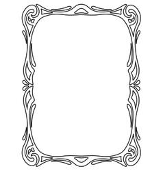 Art nouveau black ornamental decorative frame vector