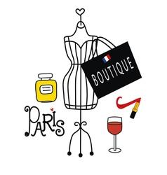 Fashionable paris vector