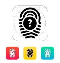 Question mark faq sign fingerprint icon vector