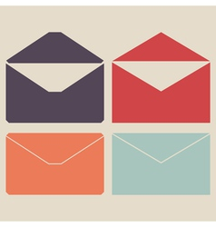 Mail icon set vector