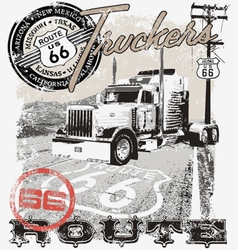 Truck route66 arizona vector