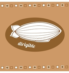 Dirigible balloon vector