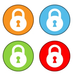 Lock button set vector