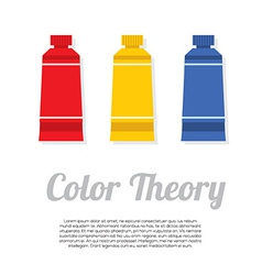 Set of primary color tubes vector
