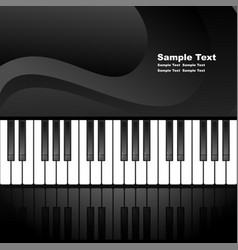 Abstract background with piano keys vector