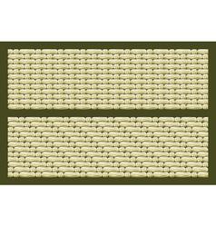 Linen fabrics vector