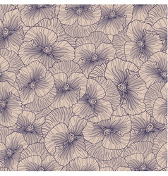 Seamless purple pansy pattern vector