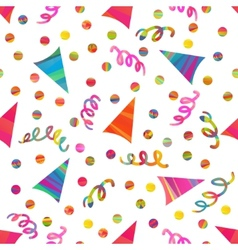Seamless pattern with birthday hats vector