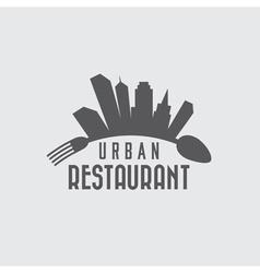 Urban restaurant design template vector