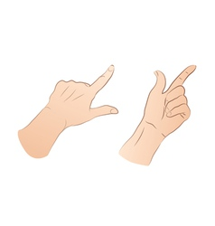 Pointing hands vector