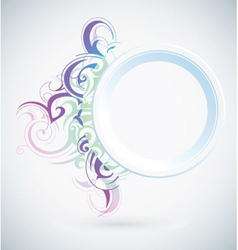 Pastel flourish vector