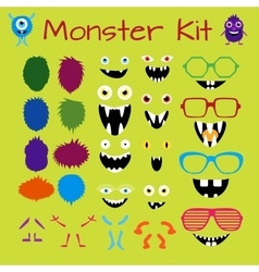 Monster and character creation kit vector