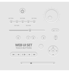 Light web ui elements vector