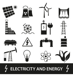Electricity and enegry icons and symbol eps10 vector