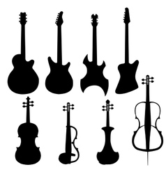 Set of string instruments vector