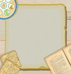 Passover seder meal vector