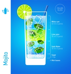 Mojito cocktail vector