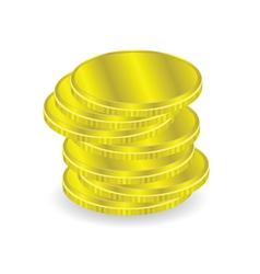Gold coins vector