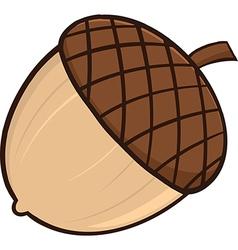 Cartoon acorn vector