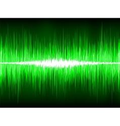 Sound waves oscillating on black background eps 8 vector