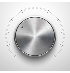 Abstract technology volume knob with metal texture vector