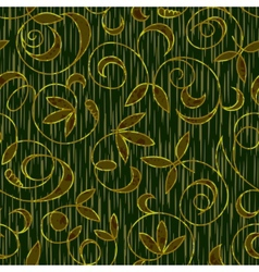 Seamless floral damask pattern background vector