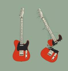 Broken guitar vector