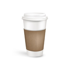 Plastic coffee cup vector