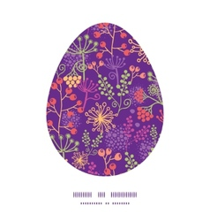 Colorful garden plants easter egg vector
