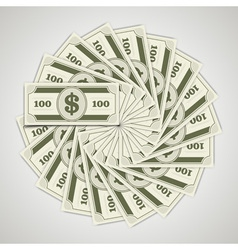 Circle from dollars money vector