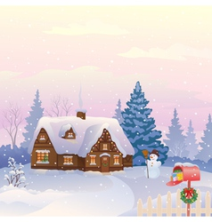 Christmas mail vector
