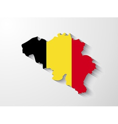 Belgium map with shadow effect vector
