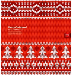 Christmas knitted vector