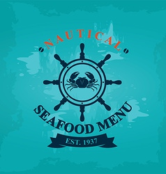 Seafood cafe menu template design vector