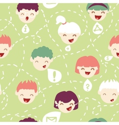 People talking seamless pattern background vector