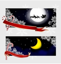 Xmas banners vector