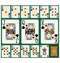 Clubs suite black jack large figures vector