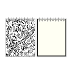 Notebook with snake design cover vector