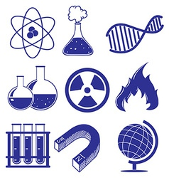 Doodle design of the different science images vector