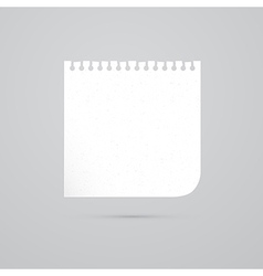 White empty paper sheet vector