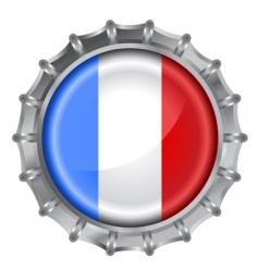 Bottle cap flag vector