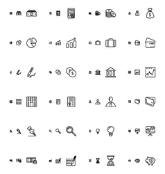 Financial responsive icons 1 vector
