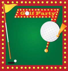 Golf party invitation vector