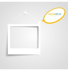 White frames on the wall vector