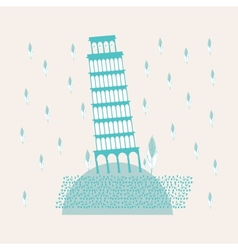 Tower of pisa sweetheart vector