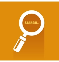 Flat with search icon vector