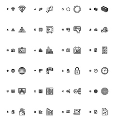 Financial responsive icons 2 vector