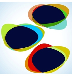 Multicolor abstract template vector