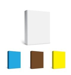Empty white books vector